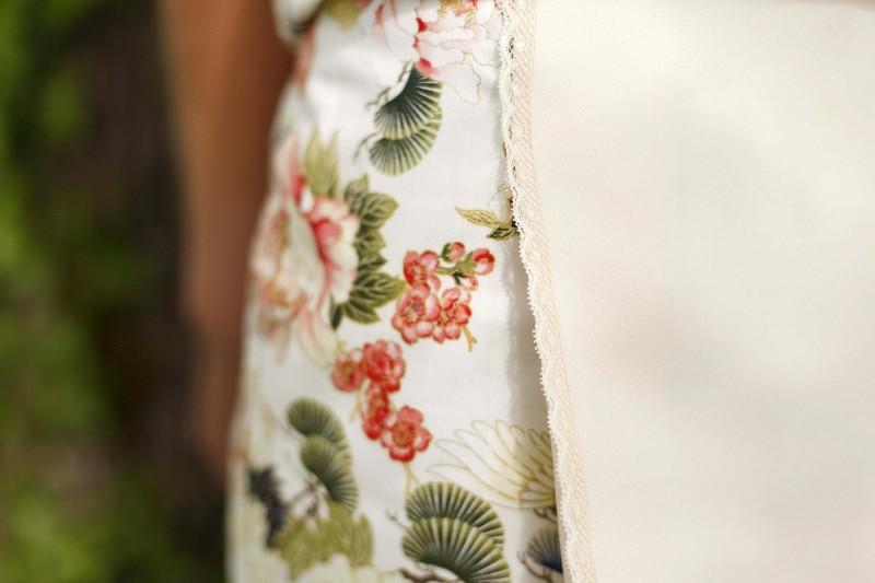 Jupe en coton japonais et dentelle...